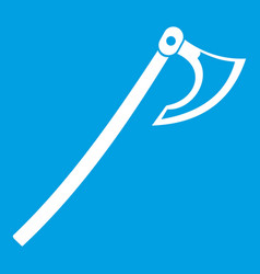 Axe icon white vector