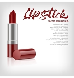 Background with red lipstic vector