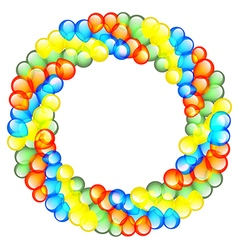 Balloon Wreath vector