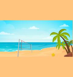 beach volleyball beautiful island vector image