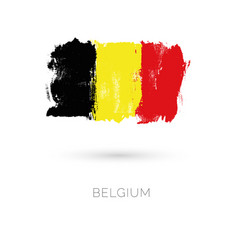 belgium colorful brush strokes painted national vector image