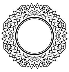 Black frame with ornamental border on white vector image
