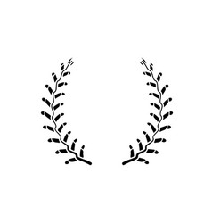 blank for the baseball emblem consisting vector image