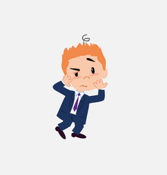 businessman something sick and dizzy vector image