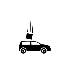 car accident flat icon vector image