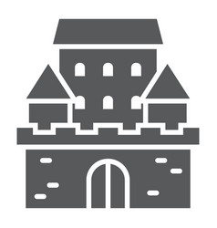 castle glyph icon architecture and fort vector image