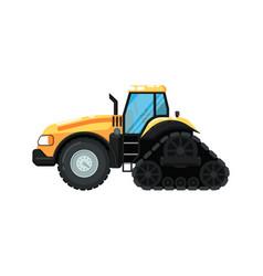 Caterpillar farm tractor vector