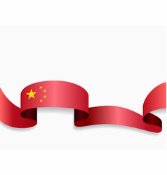 Chinese flag wavy abstract background vector