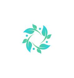 circular leaf vector image