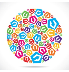 colorful small arrow icon design stock vector image