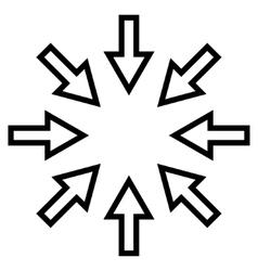Compact Arrows Thin Line Icon vector image