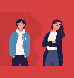 concept divorce misunderstanding in family vector image