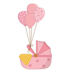 Cradle with balloons vector
