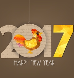 Creative chinese new year 2017 polygonal rooster vector