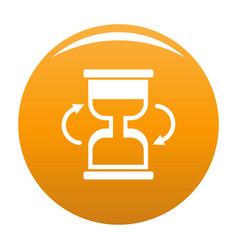 Cursor loading icon orange vector