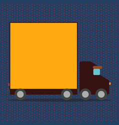 Delivery truck with blank covered vector