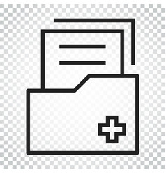 Document flat icon archive data file symbol logo vector