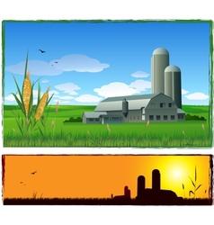 Farm harvest background vector