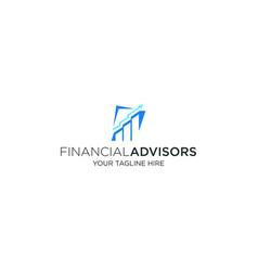 Financial advisors logo design template vector
