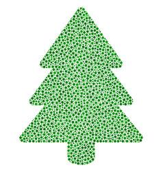 Fir-tree mosaic small circles vector