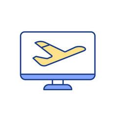 flight tickets booking rgb color icon vector image