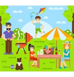 Friends friendship outdoor family dining people vector image