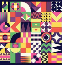 Geometric mosaic seamless pattern vector