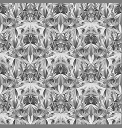 Geometrical abstract polygonal floral pattern vector