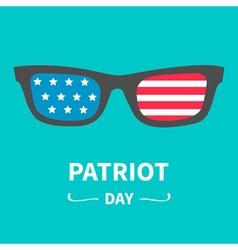 Glasses patriot day Flat vector