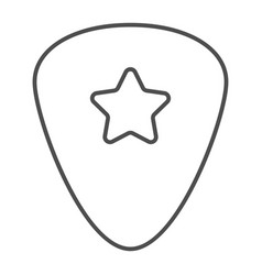 guitar pick thin line icon musical and plectrum vector image