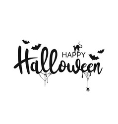 happy halloween lettering handwritten calligraphy vector image