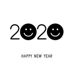 happy new year 2020 smiles vector image