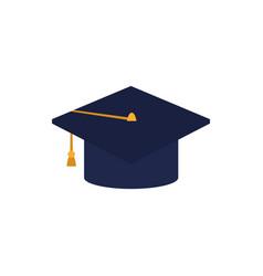 Hat graduation flat style icon vector