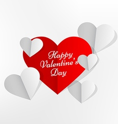 hearts in paper style vector image