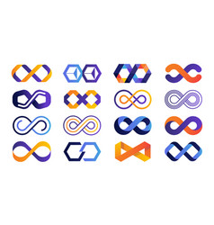 Infinite logo colored mobius ribbon and eternity vector