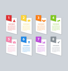 infographic design business concept with 8 steps vector image
