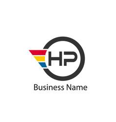 Initial letter hp logo template design vector