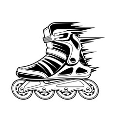 Inline roller skate in motion vector