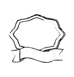label ribbon decorative sketch vector image vector image