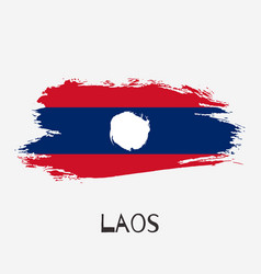 laos watercolor national country flag icon vector image
