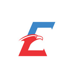 letter e eagle logo concept icon vector image