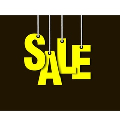 Letters sale hanging on a ropes vector