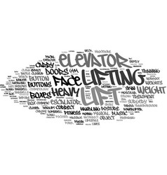 Lift word cloud concept vector