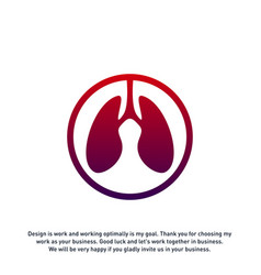 lungs care logo template design lungs health vector image