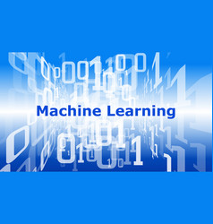 machine learning background digital data cyber vector image