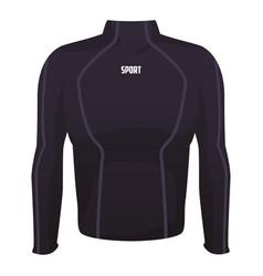 Male fitness sport jacket vector