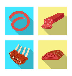 Meat and ham icon vector