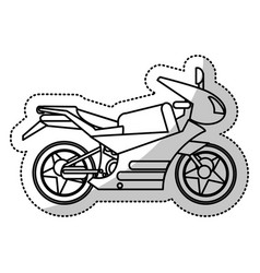 motorcycle transport image outline vector image