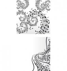 Music backdrops vector