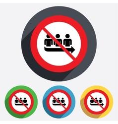 No Queue sign icon Long turn symbol vector image